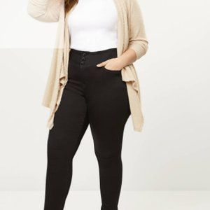 Lane Bryant High Rise 3-Button Jegging